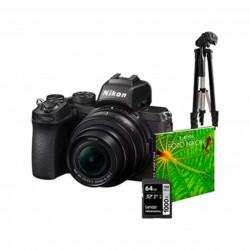 Nikon Kit Z50 + 16-50DX VR + 50-250DX VR + Tripe + SD64 + Bolsa + eBook