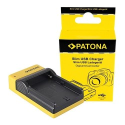 Patona Carregador Slim USB p/ Baterias Sony NP-F e NP-FM