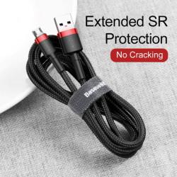 Baseus Cabo USB / Micro USB Cafule 2.4A 2mt Red/Black (CAMKLF-B91)