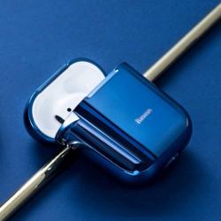 Baseus Capa Airpods 2/1 c/ Gancho Blue Brilhante (ARAPPOD-A03)