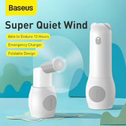 Baseus Ventilador Portátil + Power Bank Bear White (CXZD-A02)