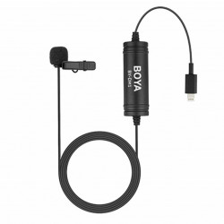 Boya Microfone de Lapela Digital Lavalier p/ iPhone, iPad, iPod Touch (BY-DM1)