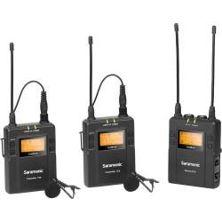 Saramonic Microfone Lapela s/ Fios UwMic9 Kit2 (RX9+TX9+TX9)