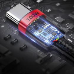 Baseus Cabo USB-C PD 2.0 Carga Rápida 3.0 5A 100W Cafule (CATKLF-AL91)