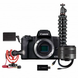 Canon EOS M50 Mark II + EF-M 15-45mm IS STM - LIVE STREAM KIT