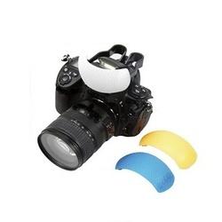 Difusor Flash Pop-Up p/ Canon e Nikon 3 Cores