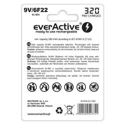 everActive Pilha 6F22 9V Ni-MH 320mAh