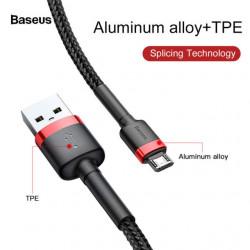 Baseus Cabo USB / Micro USB Cafule 1.5A 2mt Red/Black (CAMKLF-C91)