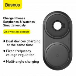 Baseus Carregador Wireless 2em1 Planet Tipo-C 3A 1mt Black (WXPL-B01)
