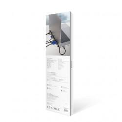 Baseus HUB Notebook Adapter Tipo-C Enjoyment Grey (CATSX-F0G)