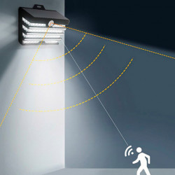 Baseus LED Solar p/ Parede Externa c/ Sensor de Movimento 5.1W (DGNEN-C01)
