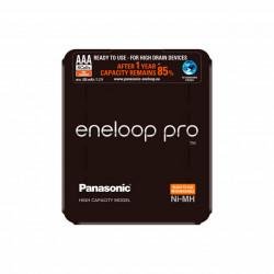 Panasonic Eneloop PRO Pilhas Recarregáveis AAA 930mAh (Caixa c/ 4 Pilhas, deslizante)