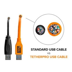 Tether Tools Cabo USB 3.0 Macho A / Micro-B Ângulo Recto - 4,6m