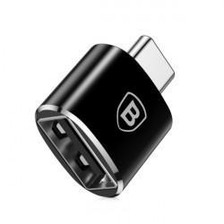 Baseus Adaptador USB Fêmea p/ Tipo-C Macho Black (CATOTG-01)