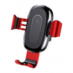 Baseus Car Mount Wireless Charger Gravity Phone Holder Red (WXYL-09)