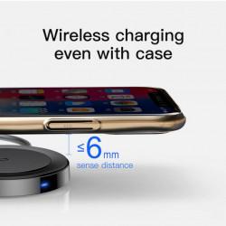 Baseus Carregador Wireless p/ Lightning 5W 1.2mt Black (WXCA-01)