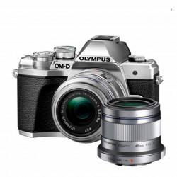 Olympus E-M10 III Kit Prata + 14-42mm IIR + Objetiva M.Zuiko 45mm f/1.8 GRÁTIS