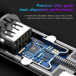 Baseus Carregador de Isqueiro c/ Cabo Lightning + Type-C + Porta USB Black (CCALL-EL01)