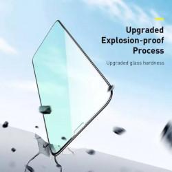 Baseus T-Glass Curvo p/ iPhone 11 Eye Protect 0.3mm Black 2Pcs (SGAPIPH61S-IA01)