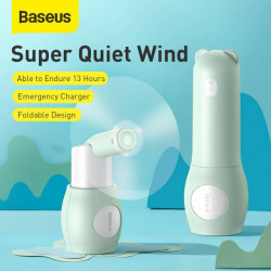 Baseus Ventilador Portátil + Power Bank Bear Green (CXZD-A06)