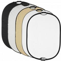 Quadralite Refletor Dobrável c/ PUNHO 5 em 1 - 90x120cm