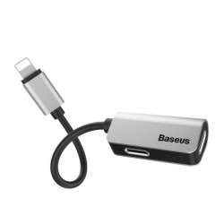 Baseus Adaptador Macho p/ 2xLighting Fêmea Silver (CALL37-S1)