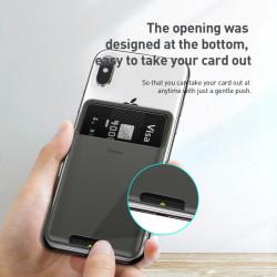 Baseus Tool Card Bag Back Stick Silicone Dark Gray (ACKD-A0G)