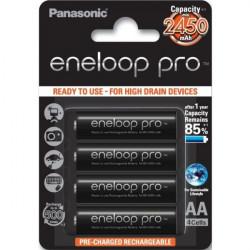 Panasonic Eneloop PRO Pilhas Recarregáveis AA 2500mAh