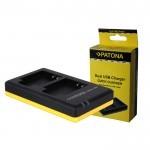 Patona Carregador Duplo USB para 2 Baterias Sony NP-FP / NP-FH / NP-FV