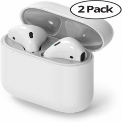 Ringke Película p/ AirPods / Airpods 2 Dust Guard Silver (Pack de 2)