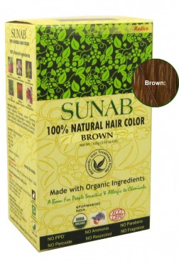 100% Natural Hair Color - Brown images