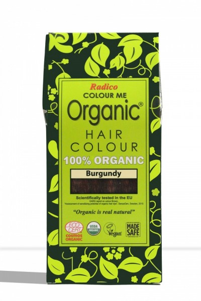 Certified Organic Hair Color Dye - Burgundy images