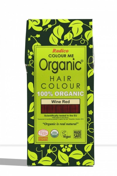 Certified Organic Hair Color Dye - Wine Red images