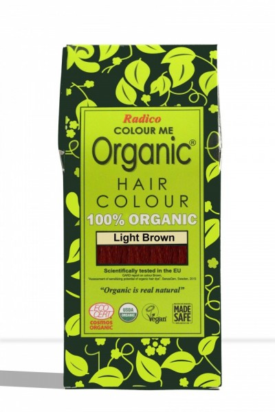 Certified Organic Hair Color Dye - Light Brown images