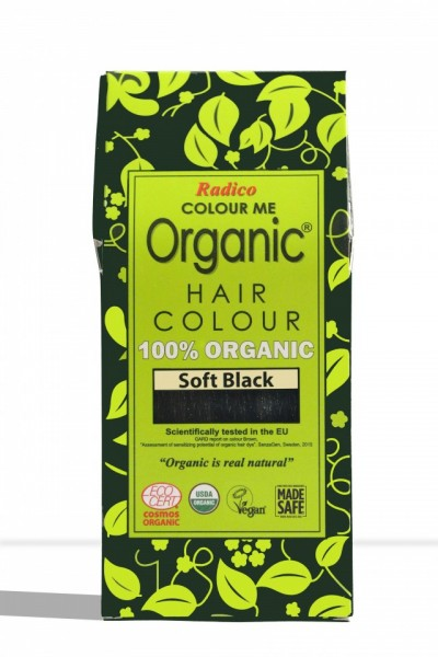 Certified Organic Hair Color Dye - Soft Black images