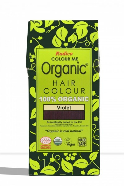 Certified Organic Hair Color Dye - Violet images