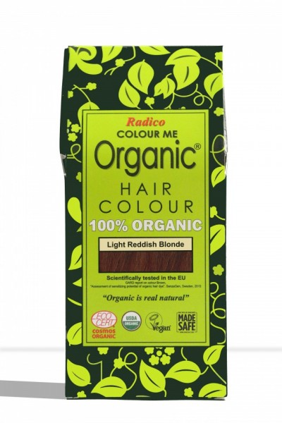 Certified Organic Hair Color Dye - Light Reddish Blonde images