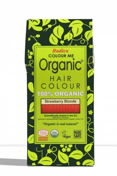 Certified Organic Hair Color Dye - Strawberry Blonde images