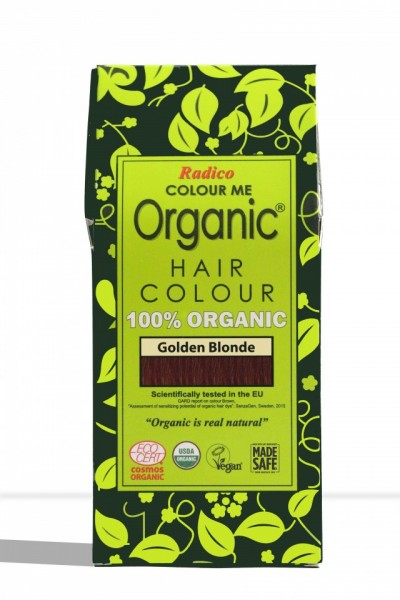 Certified Organic Hair Color Dye - Golden Blonde images