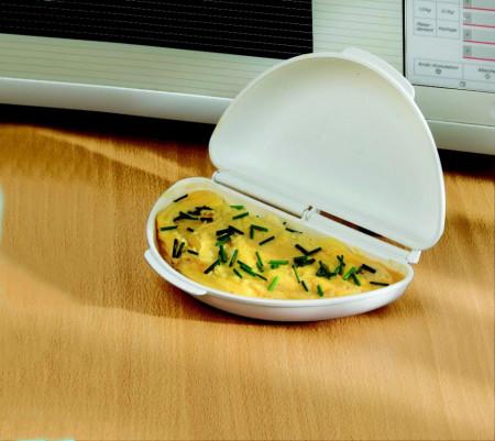 Dispozitiv pentru omleta la microunde