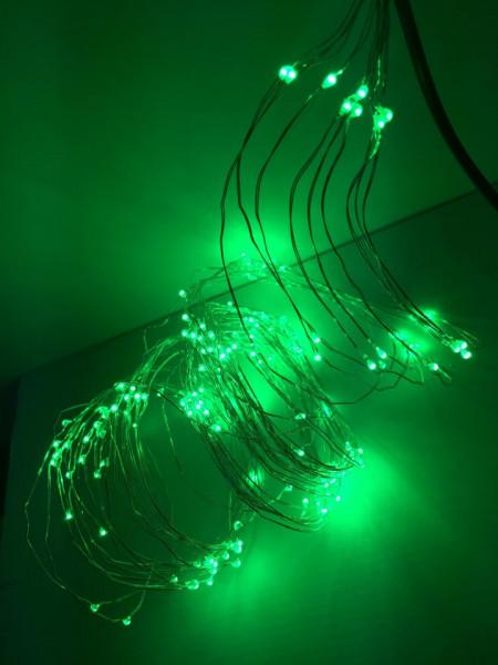 Ghirlandă perdea 2M rezistent la apă culoare verde
