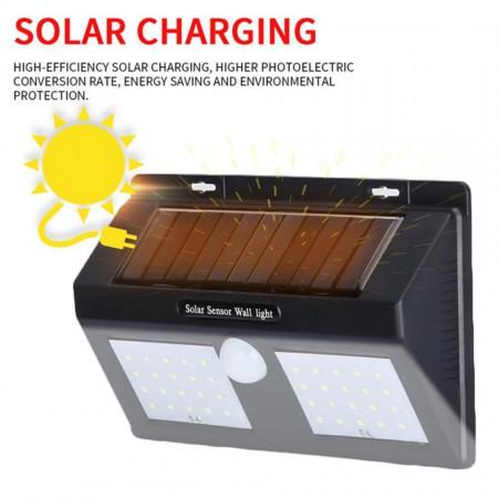 Lampa solară cu senzor de mişcare exterior 40 leduri
