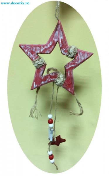 Ornament stea din lemn