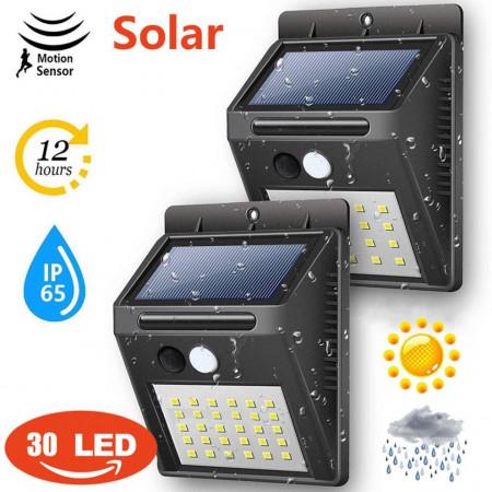 Lampa solară cu senzor de mişcare exterior 30 leduri