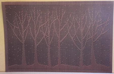 Set 4 suporturi farfurii Copaci maro
