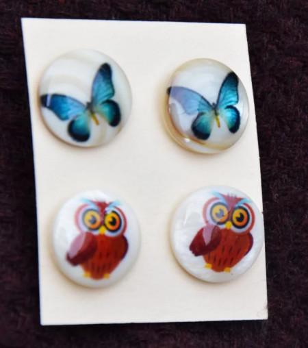 Set cercei Fluturi + Bufnite