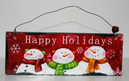 Decoratiune tablita Happy Holidays