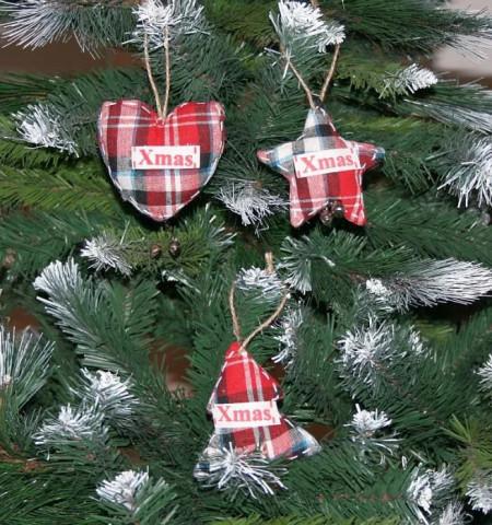 Set 3 ornamente textile