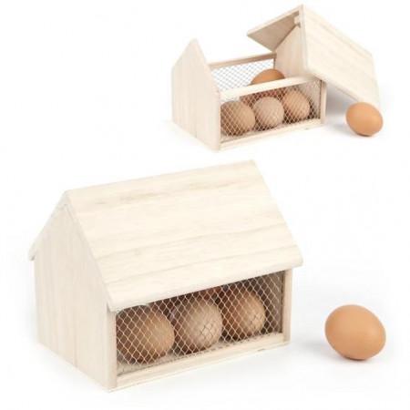 Casuta lemn pentru oua