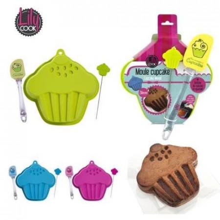 Forma silicon Cupcake cu accesorii